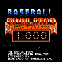 Baseball Simulator 1,000 Title Screen