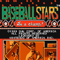 Baseball Stars Title Screen