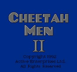 Cheetahmen 2 Title Screen