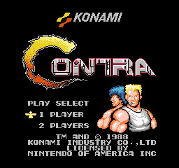 Contra Title Screen