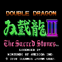 Double Dragon III - The Sacred Stones Title Screen