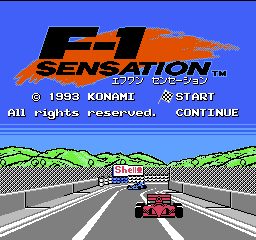 F-1 Sensation Title Screen