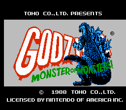 Godzilla - Monster of Monsters! Title Screen