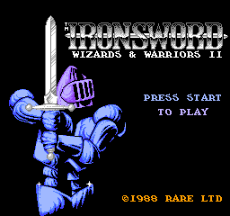 Ironsword - Wizards & Warriors II Title Screen
