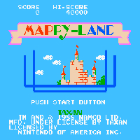Mappy Land Title Screen