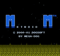 Metroid M Title Screen
