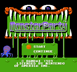 Monster Party Title Screen
