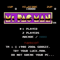 Ms. Pac-Man G Title Screen