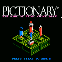 Pictionary Title Screen