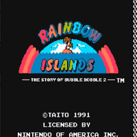 Rainbow Islands Title Screen