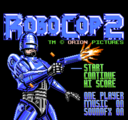 RoboCop 2 Title Screen