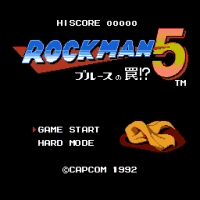 Rockman 5 Endless no laser areas Title Screen