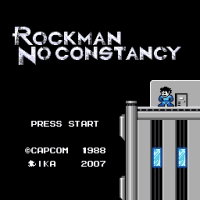 Rockman No Constancy Title Screen