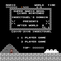 SMB After World 8 Title Screen