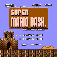 Super Mario Bash Title Screen