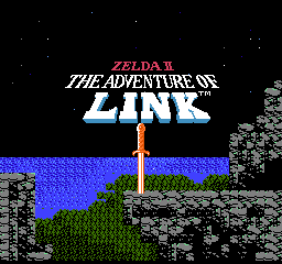 Zelda II - The Adventure of Link Title Screen