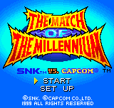 SNK vs. Capcom - The Match of the Millennium Title Screen