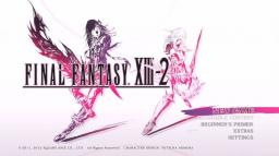 Final Fantasy XIII-2 Title Screen