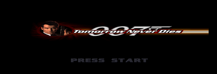 007: Tomorrow Never Dies Title Screen