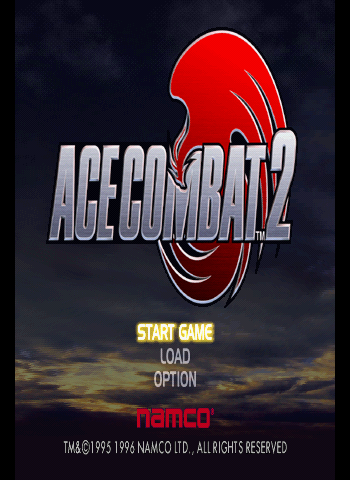 Ace Combat 2 Title Screen