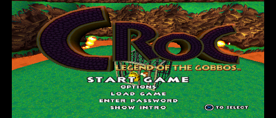 Croc: Legend of the Gobbos Title Screen