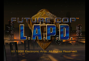 Future Cop: LAPD Title Screen