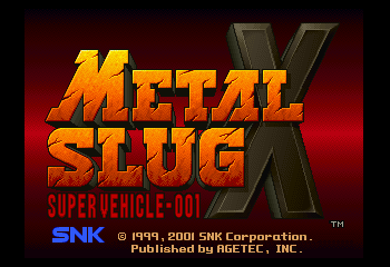 Metal Slug X Title Screen