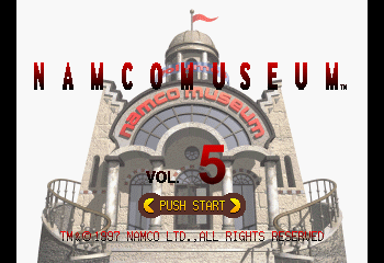 Namco Museum Vol. 5 Title Screen