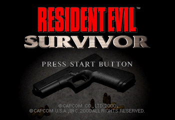 Resident Evil: Survivor Title Screen