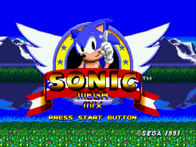Sonic 1 Megamix (beta 4.0) Title Screen