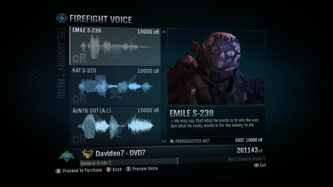 Emile -Character Select :Firefight Voice: Emile - User Screenshot