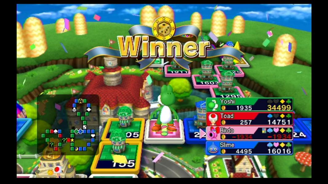 Fortune Street - Level Mario Circuit - Yoshi is Winner - User Screenshot