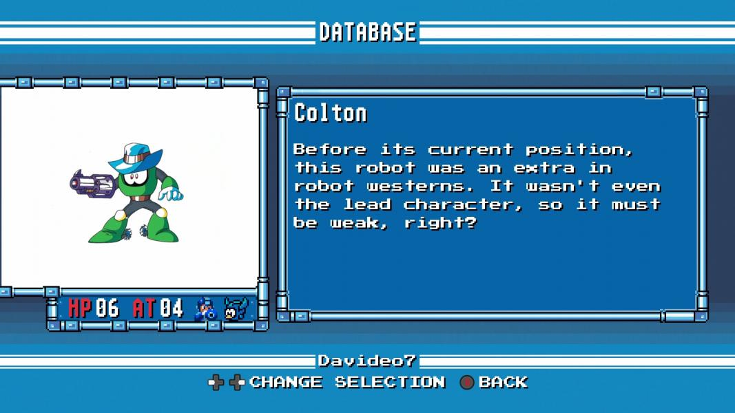 Colton -Character Profile :Mega Man 6 Database - User Screenshot