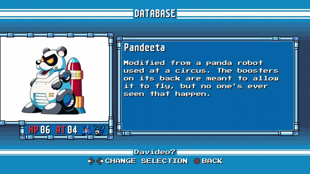Pandeeta -Character Profile :Mega Man 6 Database - User Screenshot