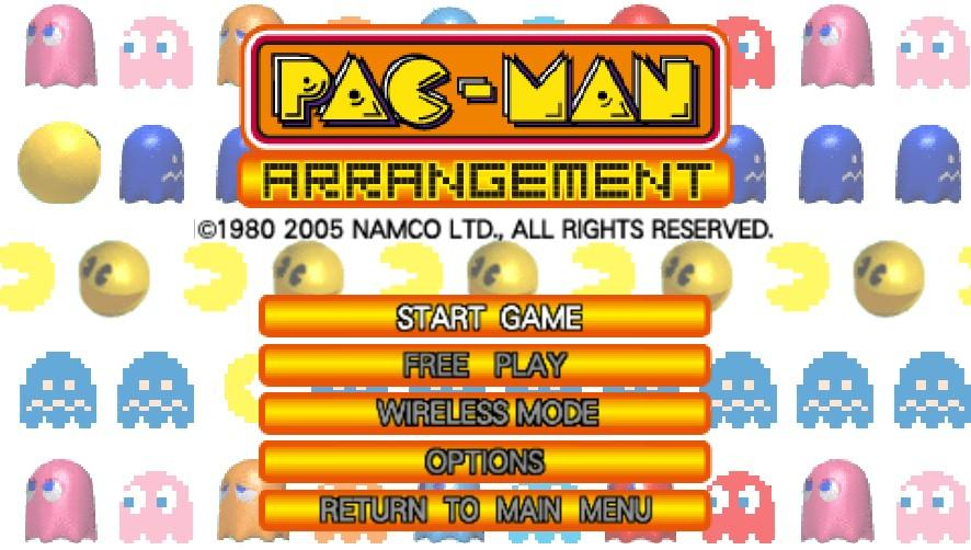Clyde -Menus Title Screen:Pac-Man arrangement title screen - User Screenshot
