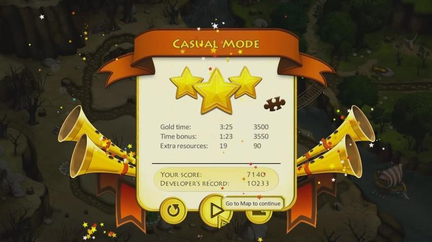 12 Labours of Hercules IV: Mother Nature - Menus  - Level Score - User Screenshot
