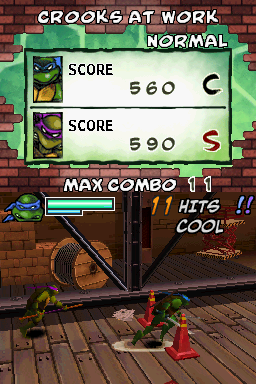 Donatello -Level :You got 11 hits!Cool! - User Screenshot