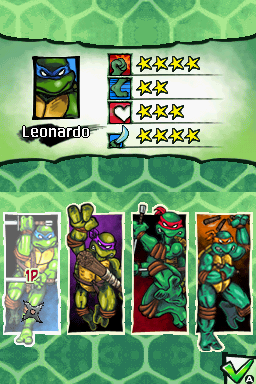 Donatello -Character Select :Who pulled thier noses down? - User Screenshot