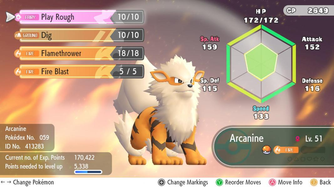 Arcanine (Pokémon) - Video Game Character Profile - Vizzed