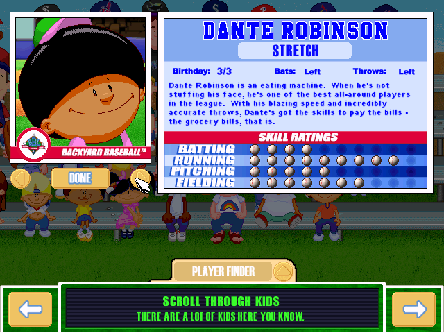 dante robinson character profile he runs for his food user