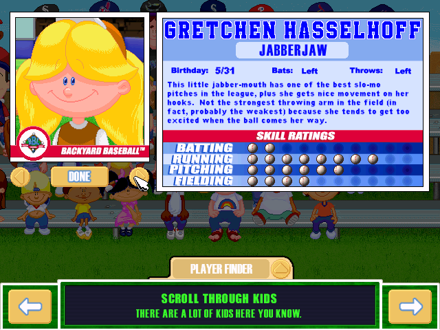backyard baseball 2001 character profile it