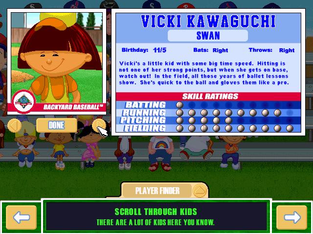 backyard baseball 2001 character profile ballerina user