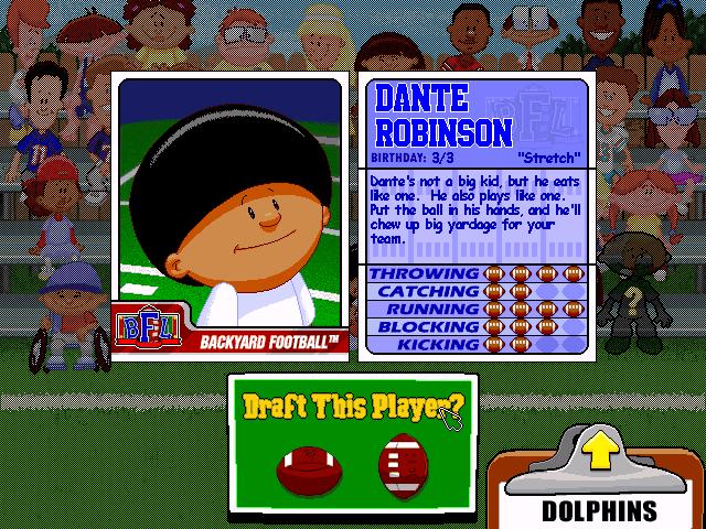 Dante Robinson Backyard Baseball dante robinson - video game character profile - vizzed