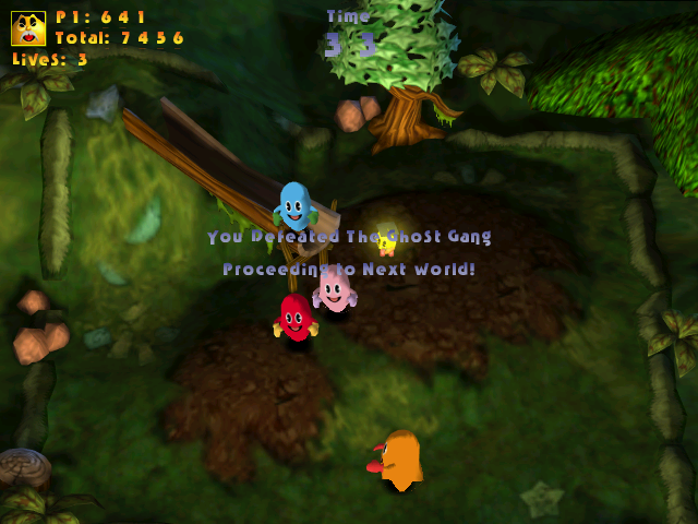 Clyde -Level The Creepy Forest:defeat the ghost gang by...eating! - User Screenshot