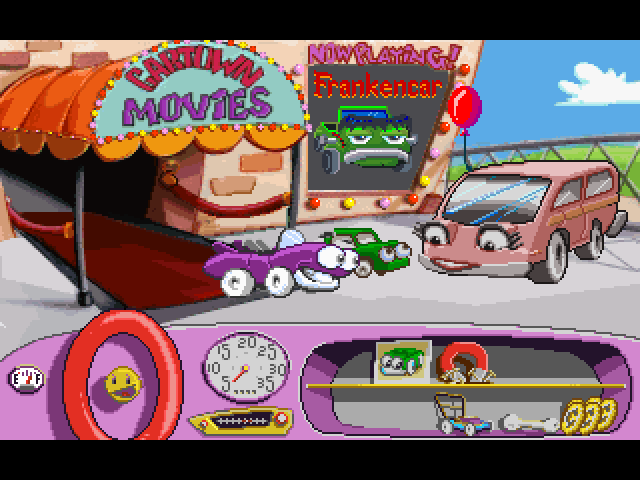 Putt-Putt -Location Cartown Movies:baby beep will look different every game - User Screenshot