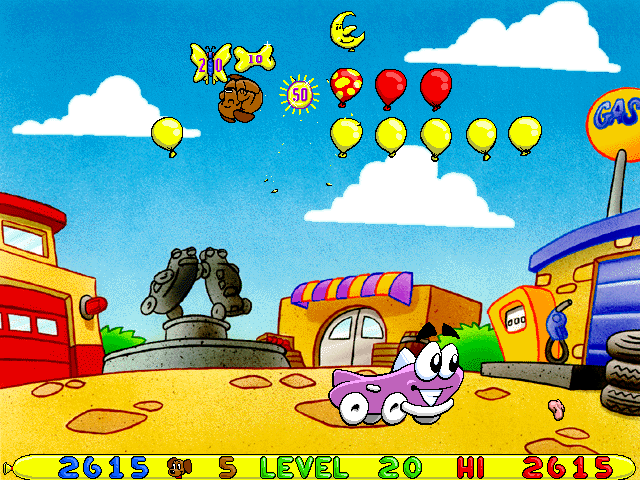 Putt-Putt -Level Level 20:multi-hit balloon combo! butterfly! - User Screenshot