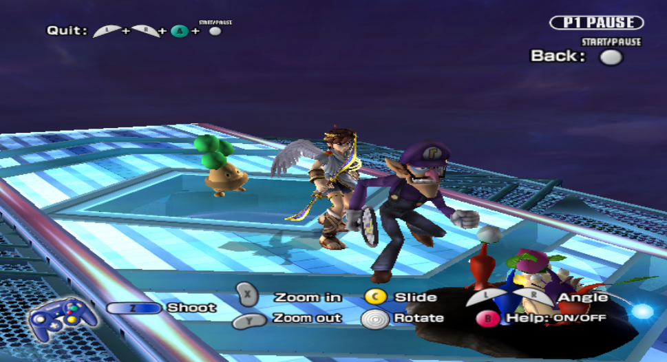 Super Smash Bros. Brawl - Misc Assist - Get em Waluigi!  - User Screenshot