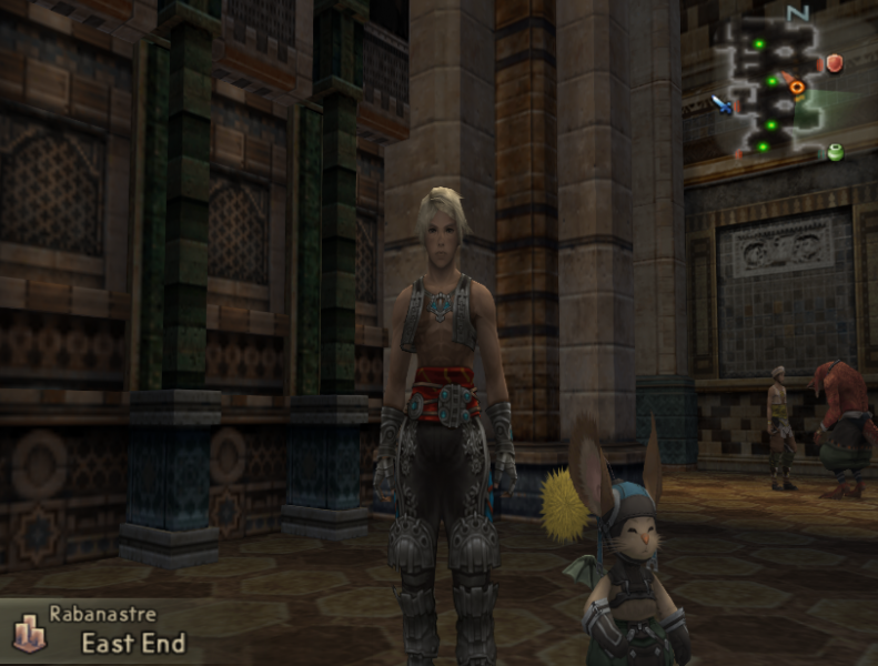 Final Fantasy XII - Location Rabanastre  - Vaan and a moogle :D  - User Screenshot