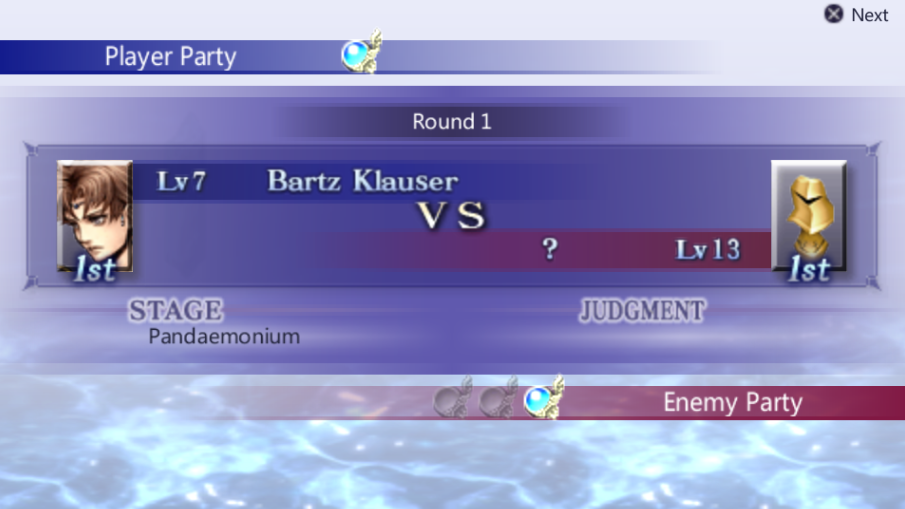 Bartz Klauser -Battle :Bartz vs Manakins round 1 - User Screenshot