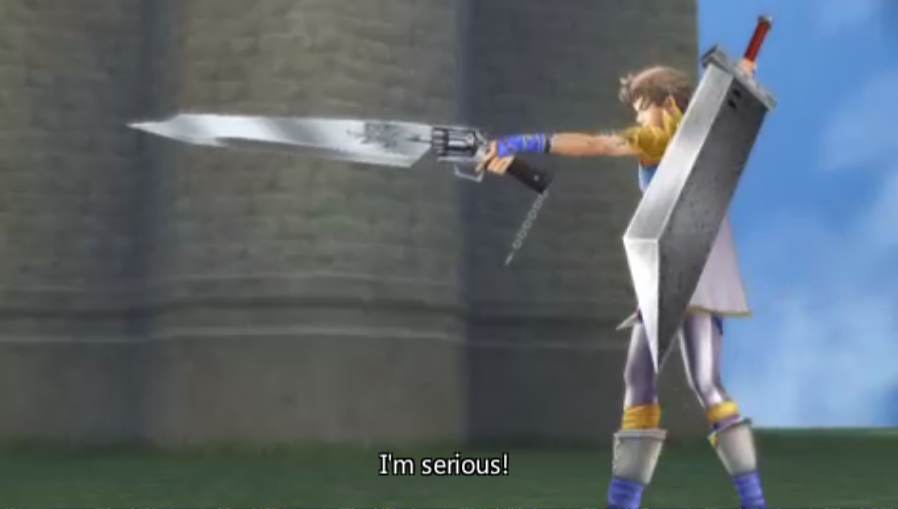 Bartz Klauser -Cut-Scene :Bartz with the Buster Sword and Gunblade, wow - User Screenshot